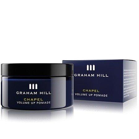 CHAPEL volume up - lżejsza pomada nakładana na suche włosy, dla uzyskania ukierunkowanych fryzur. Pozwala uzyskać silnie zaakcentowane pasma bez efektu matowienia, zapewnia naturalne wykończenie.